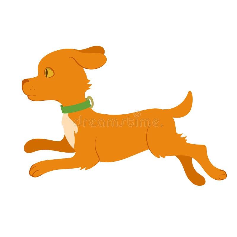 Ejemplo del perro corriente ilustración del vector