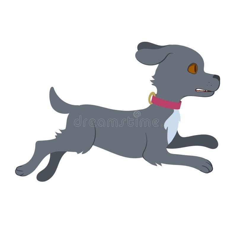 Ejemplo del perro corriente libre illustration