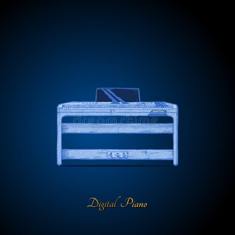 Ejemplo del piano digital libre illustration