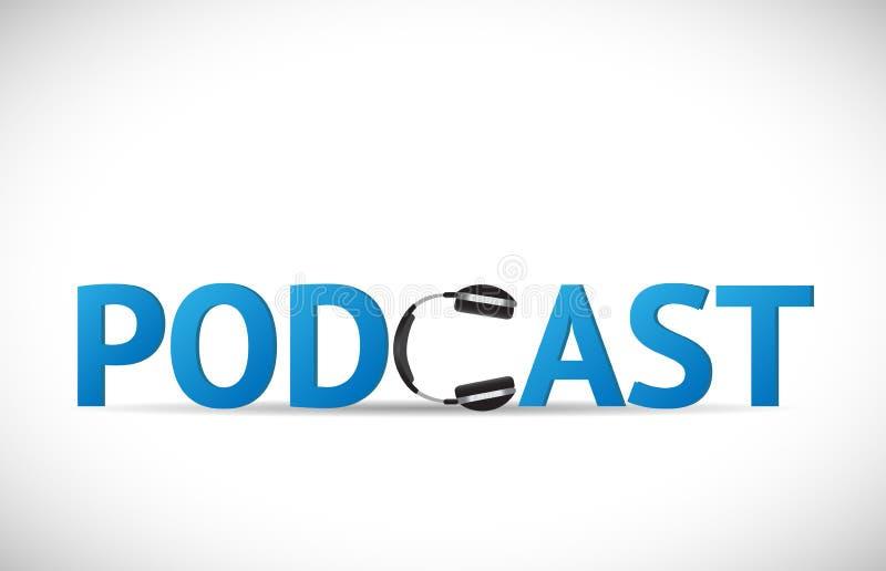 Ejemplo del podcast ilustración del vector