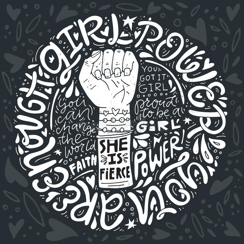 Ejemplo del poder de la muchacha libre illustration