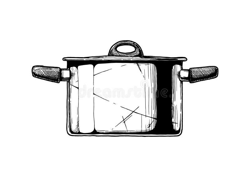 Ejemplo del pote común ilustración del vector