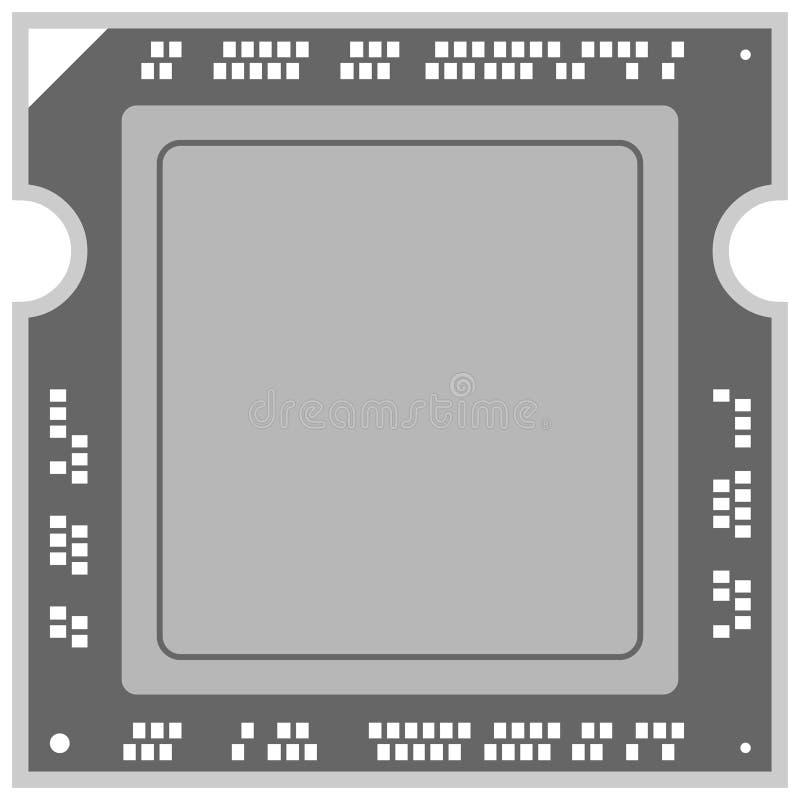 Ejemplo del procesador del ordenador stock de ilustración