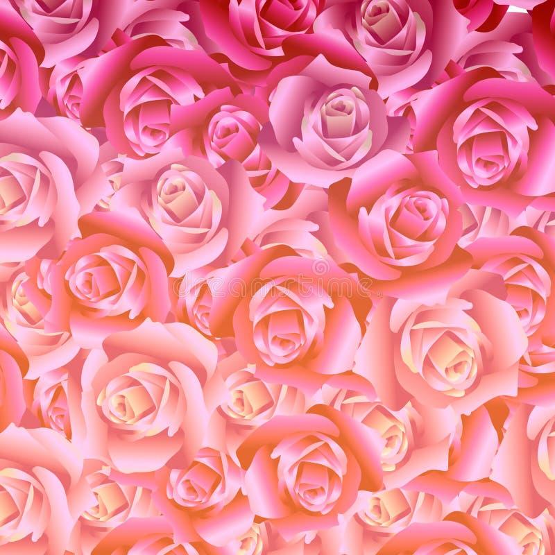 Ejemplo del ramo de fondo de las rosas ilustración del vector