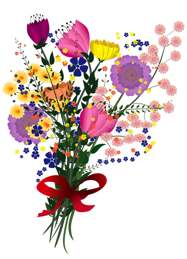 Ejemplo del ramo floral fotografía de archivo