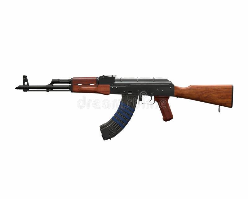 Ejemplo del rifle de asalto de Akm 3d libre illustration