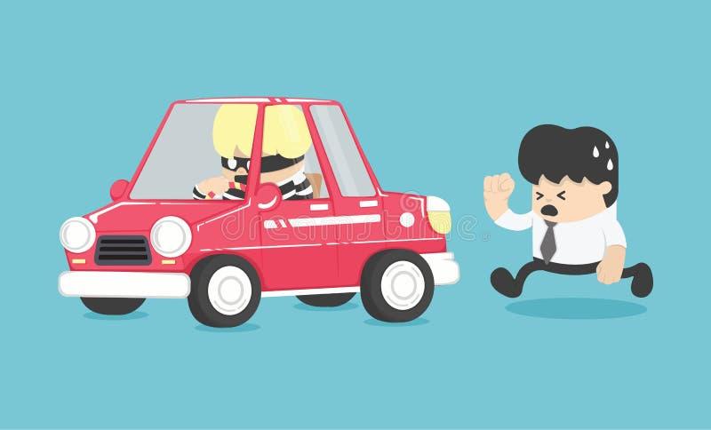 Ejemplo del robo de automóviles stock de ilustración