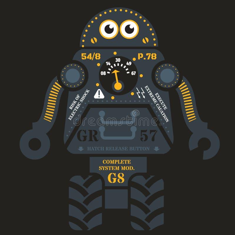Ejemplo del robot del balanceo stock de ilustración