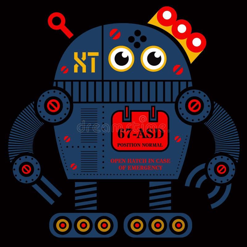 Ejemplo del robot 2 del balanceo stock de ilustración
