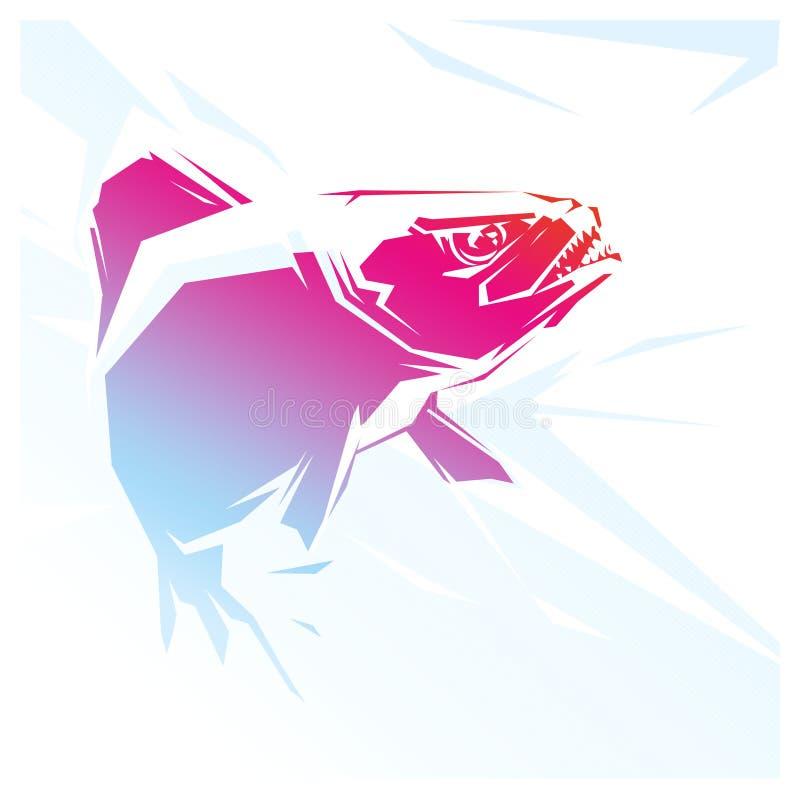 Ejemplo del rojo de la piraña ilustración del vector