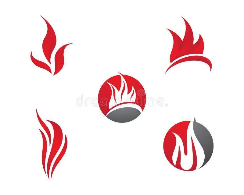 Ejemplo del símbolo de fuego fotos de archivo libres de regalías