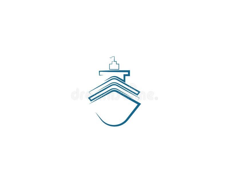 ejemplo del s?mbolo del barco de cruceros stock de ilustración