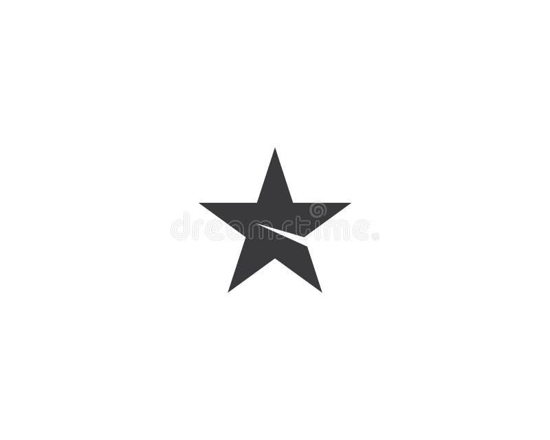 Ejemplo del s?mbolo de la estrella ilustración del vector