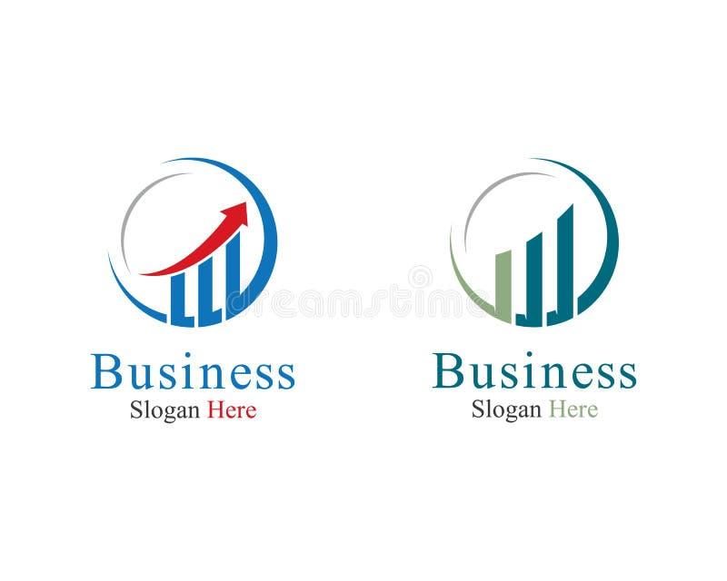 Ejemplo del s?mbolo de las finanzas del negocio ilustración del vector