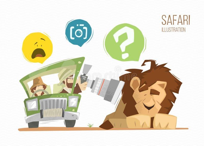 Ejemplo del safari ilustración del vector