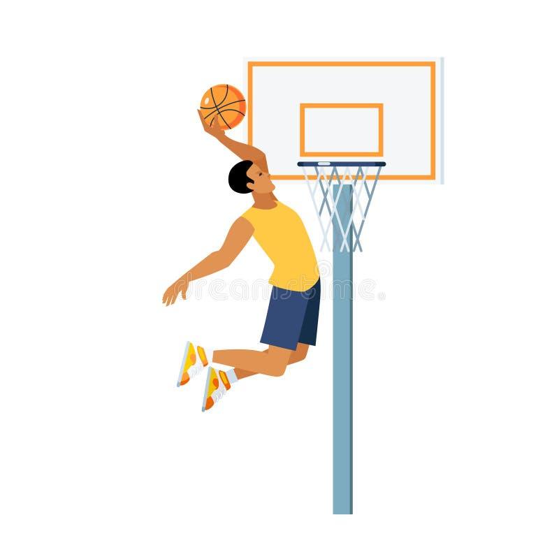 Ejemplo del salto del baloncesto ilustración del vector