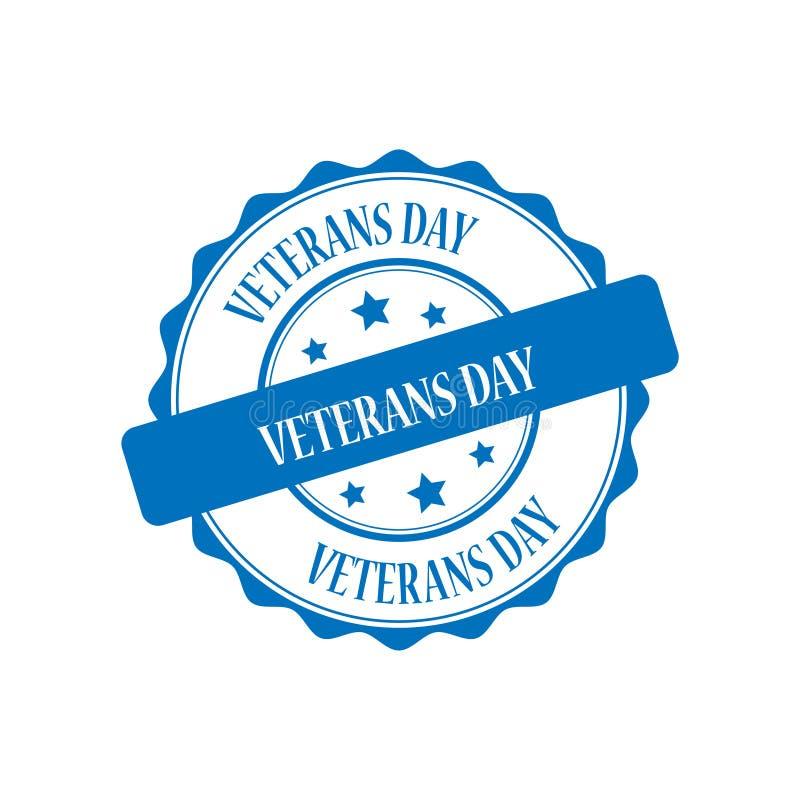 Ejemplo del sello del día de veteranos ilustración del vector