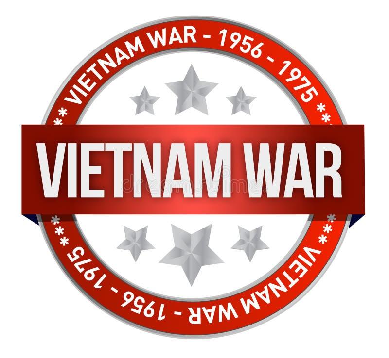 Ejemplo del sello de la conmemoración de la guerra de Vietnam ilustración del vector