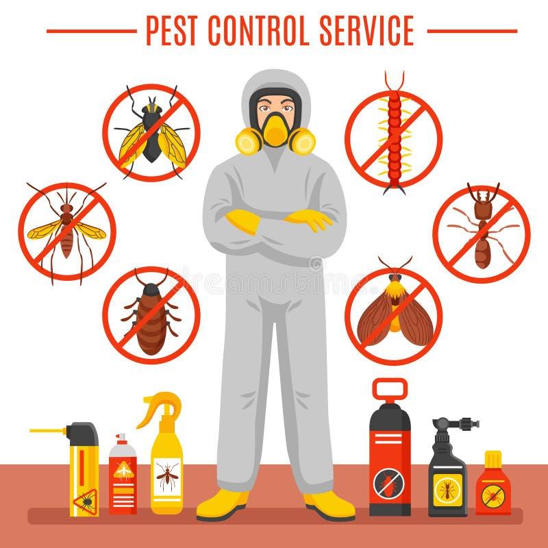 Ejemplo del servicio de control de parásito libre illustration