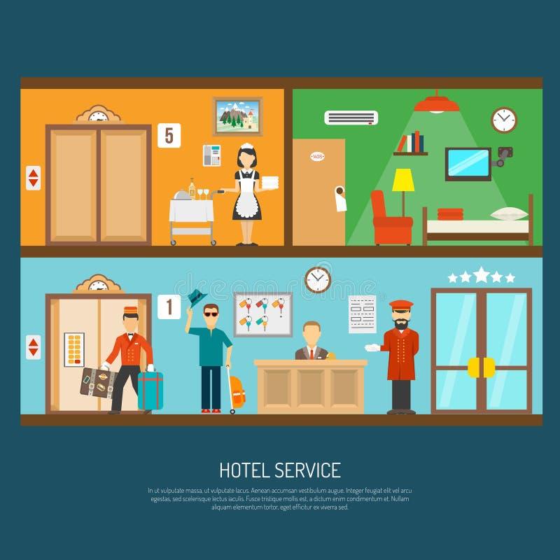 Ejemplo del servicio de hotel ilustración del vector