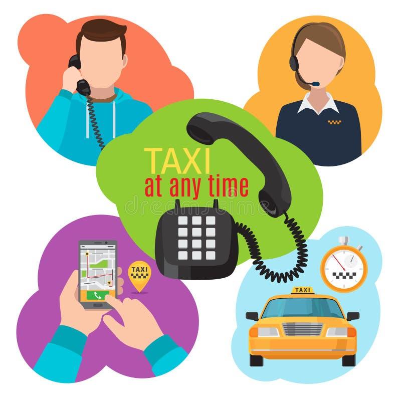 Ejemplo del servicio del taxi libre illustration
