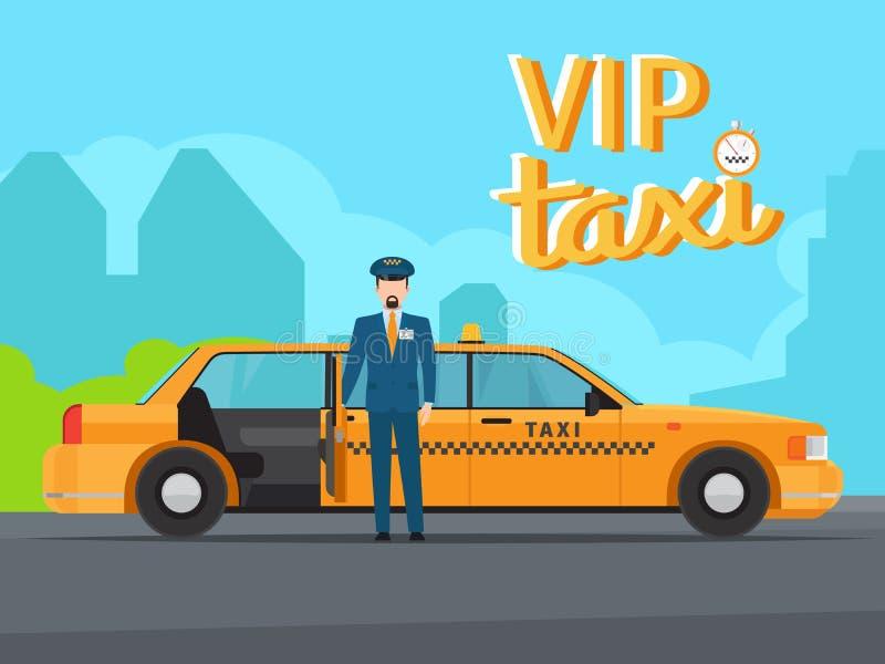 Ejemplo del servicio del taxi del Vip libre illustration