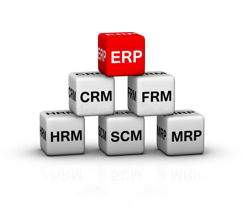 Ejemplo del sistema del ERP libre illustration
