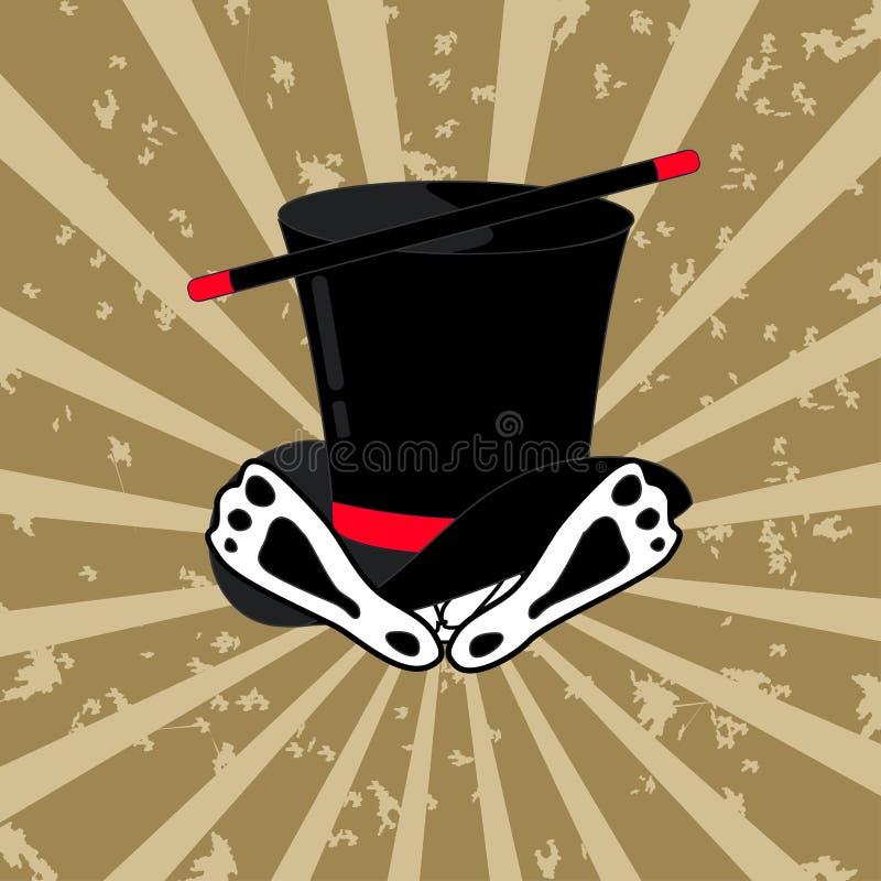 Ejemplo del sombrero y del conejo mágicos libre illustration