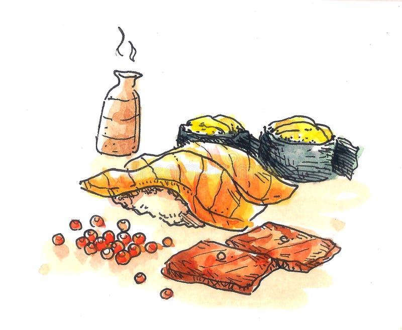 Ejemplo del sushi libre illustration