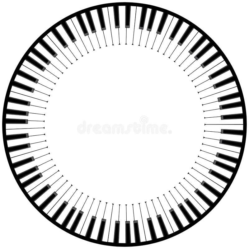 Ejemplo del teclado de piano libre illustration