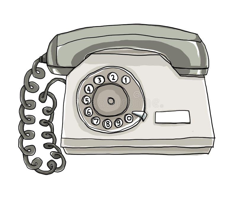 ejemplo del teléfono de la pared del teléfono de dos tonos libre illustration