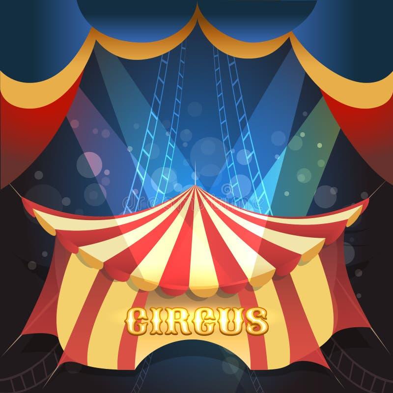 Ejemplo del tema del circo stock de ilustración
