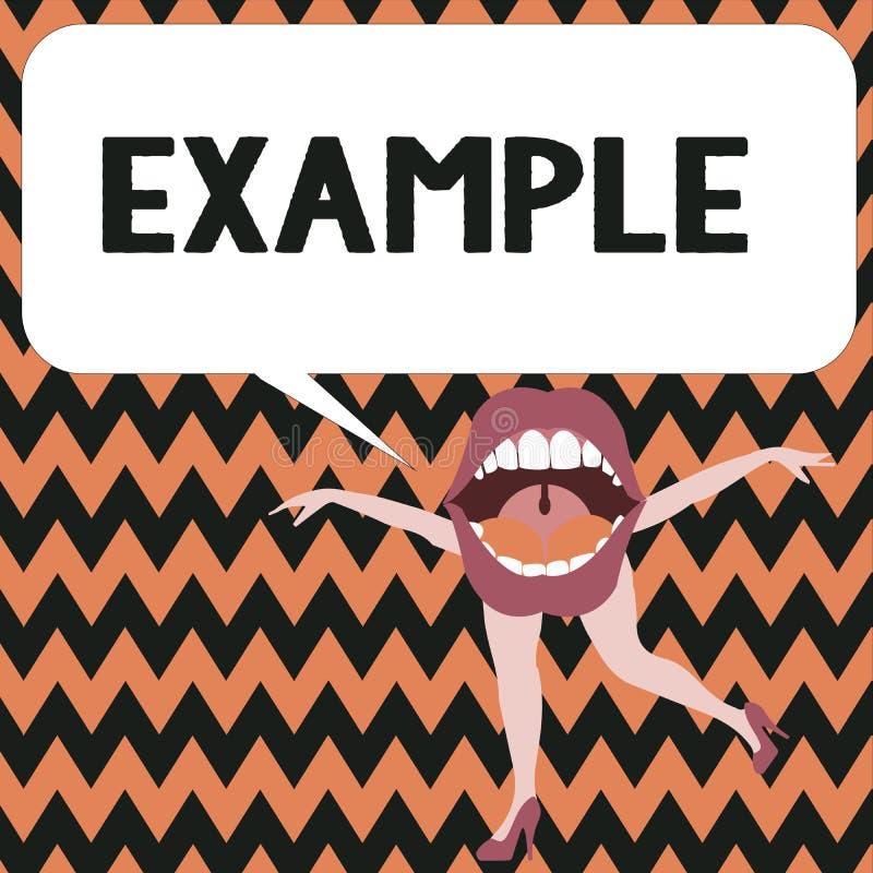Ejemplo del texto de la escritura de la palabra Concepto del negocio para que modelo de la muestra del ejemplo siga la explicació libre illustration
