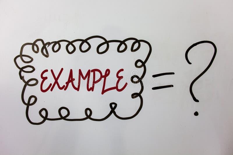 Ejemplo del texto de la escritura de la palabra Concepto del negocio para que modelo de la muestra del ejemplo siga mensajes de l stock de ilustración