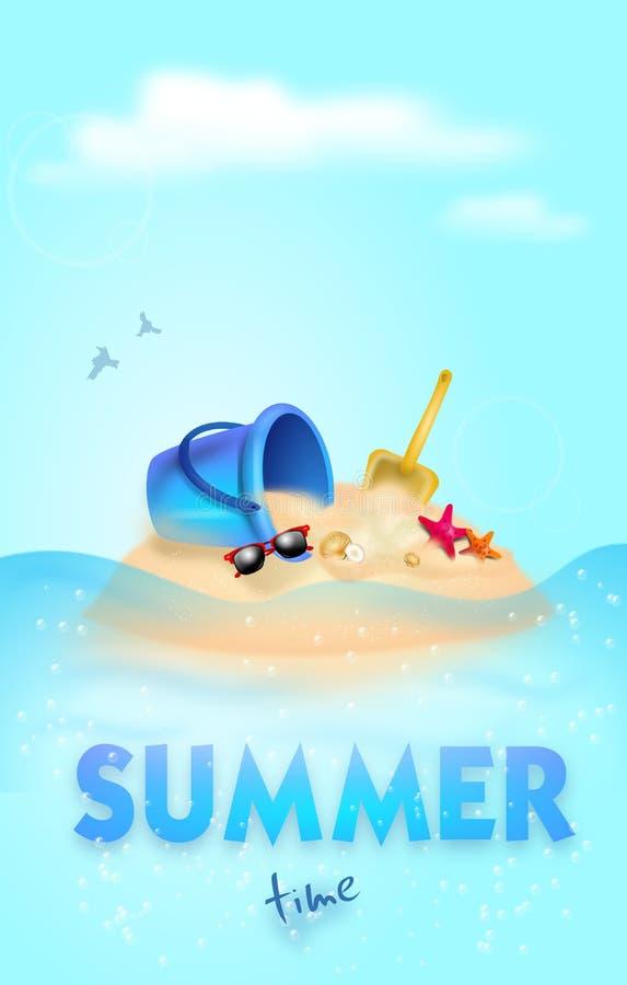 Ejemplo del tiempo de verano libre illustration