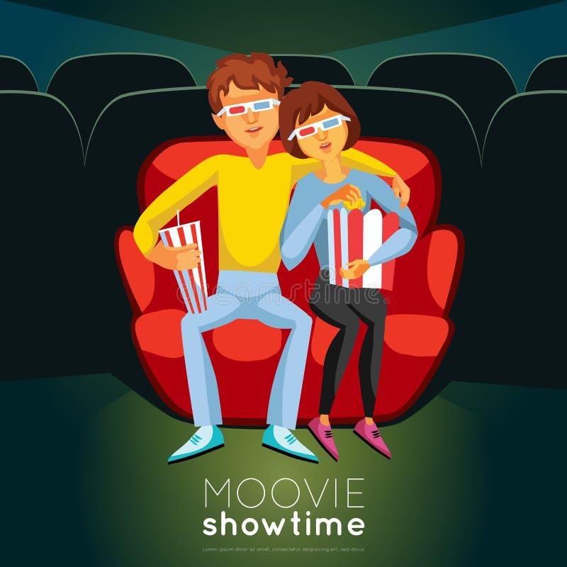 Ejemplo del tiempo del cine stock de ilustración