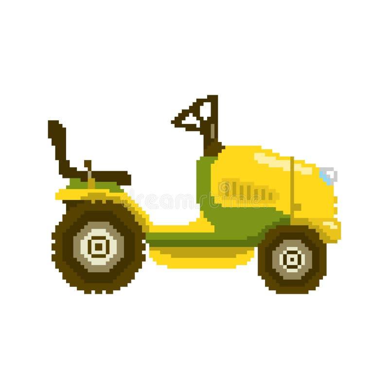 Ejemplo del tractor del jardín del pixel libre illustration
