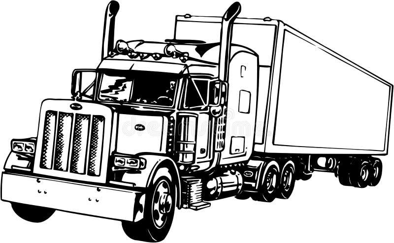 Ejemplo del tractor remolque ilustración del vector