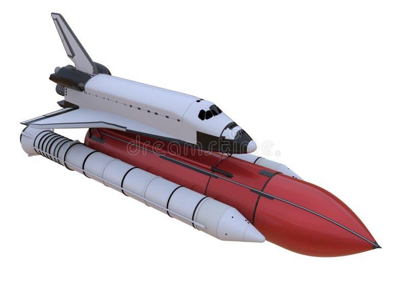 Ejemplo del transbordador espacial ilustración del vector