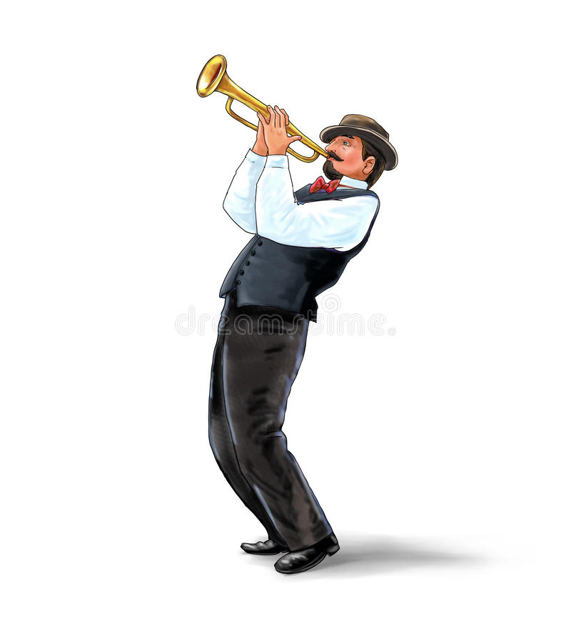Ejemplo del trompetista foto de archivo libre de regalías