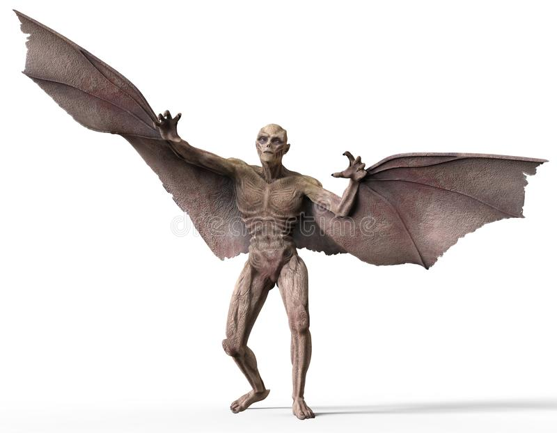 Ejemplo del vampiro 3D ilustración del vector