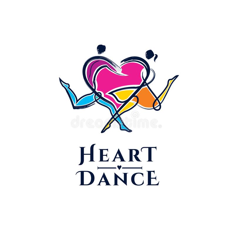 Ejemplo del vector del baile Logotipo del vector del baile ilustración del vector