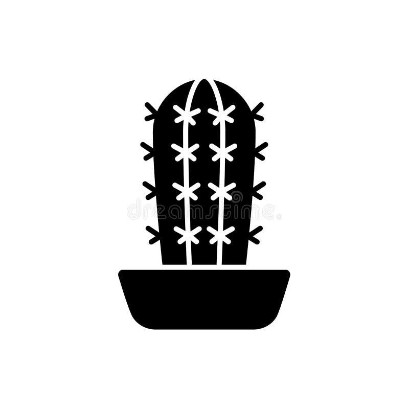 Ejemplo del vector del cactus del pachycereus Icono plano del desierto s ilustración del vector