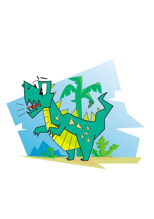 Ejemplo del vector del carácter del dinosaurio de la historieta fotografía de archivo libre de regalías