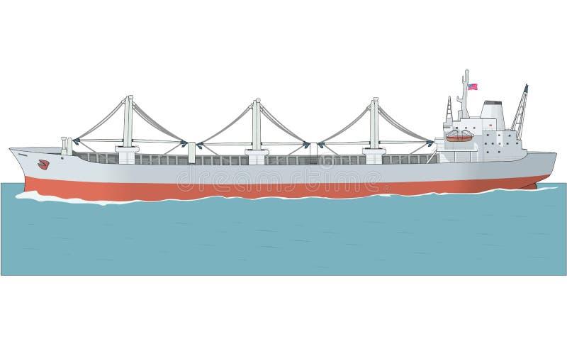 Ejemplo del vector del carguero stock de ilustración