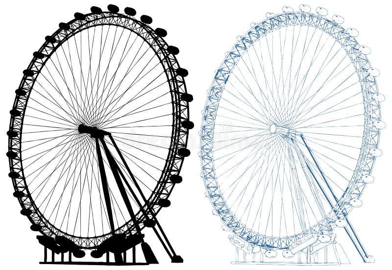 Ejemplo del vector del carrusel aislado en el fondo blanco ilustración del vector