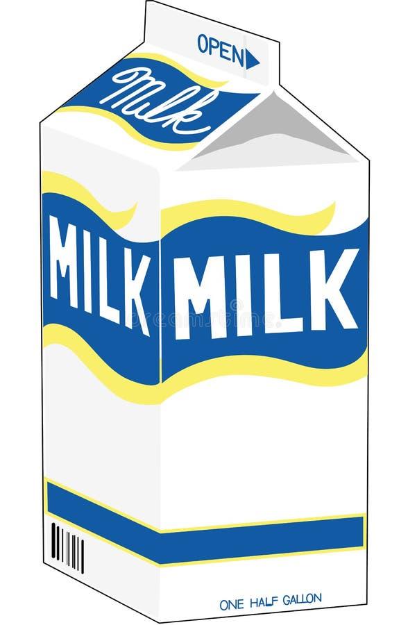 Ejemplo del vector del cartón de la leche libre illustration