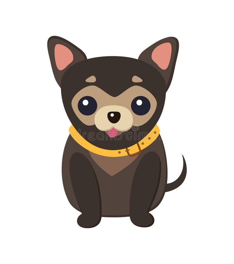 Ejemplo del vector del cartel de la imagen del perro de la chihuahua ilustración del vector