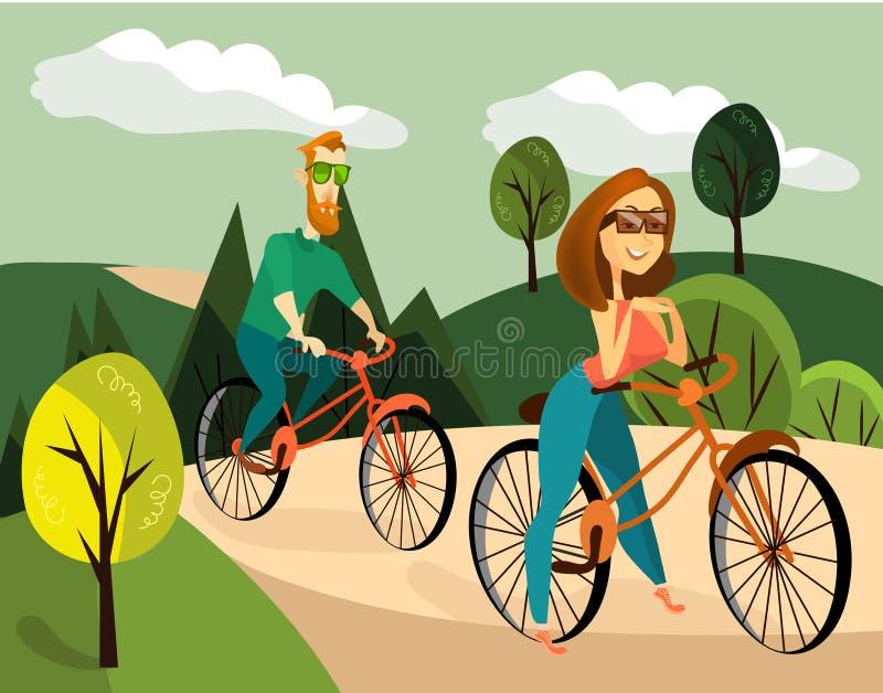 Ejemplo del vector del ciclo de los pares de la familia libre illustration