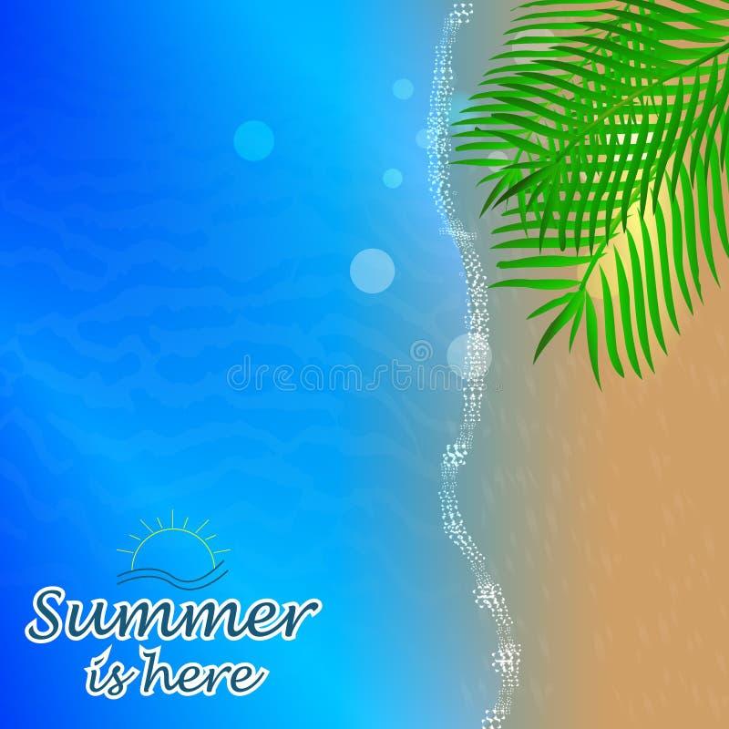 Ejemplo del vector con diseño del verano ilustración del vector